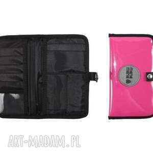 portfel zestaw fuksja black (torba worek xl