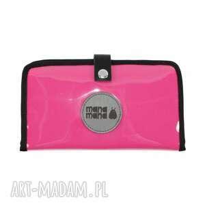 portfel podróżne zestaw fuksja black (torba worek xl