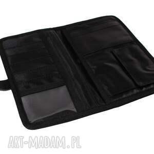 podróżne portfel zestaw fuksja black (torba worek xl