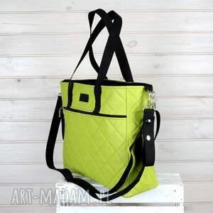nietypowe podróżne torba zielona weekendowa do wózka