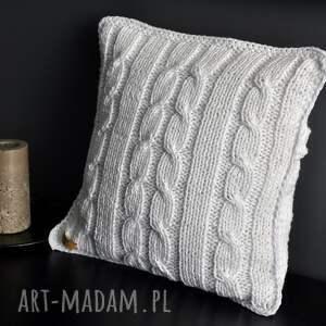 ręcznie robione poduszki poszewka biała