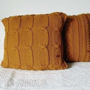 poduszki poszewka duża poduszka w miodowym