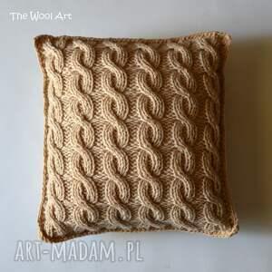 The Wool Art niekonwencjonalne poduszki poduszka do stworzenia przytulnej aranżacji najlepiej