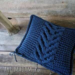 poduszki poduszka jeansowa splatana