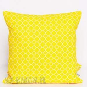 komplet poduszek poduszki żółte 6 ozdobnych