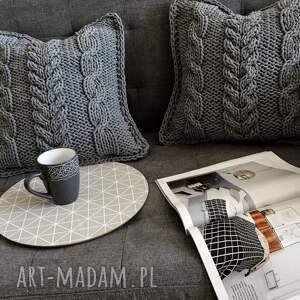 poduszki poduszka komplet poduszek dzierganych