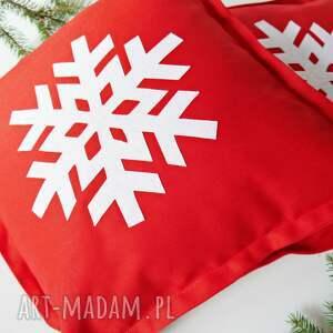 pod choinkę komplet poduszek śnieżynki
