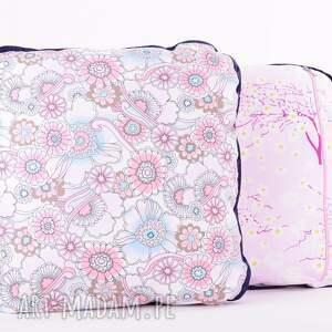 fioletowe poduszki poduszki-dziewczęce komplet 2 różowych poduszek 50x50cm