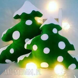 upominki świąteczne mała choinka z polaru - poduszka