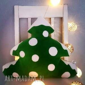 upominki świąteczne ozdoba mała choinka z polaru - poduszka