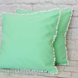 zielone poduszki poduszka miętowa pastelowa