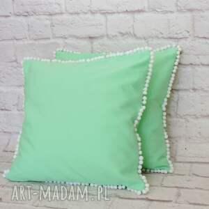 hand-made poduszki poduszka miętowa pastelowa
