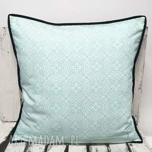 białe poduszki poduszka duża 51x51cm patchwork black