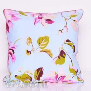 poduszki poduszka w-kwiaty blue garden 50x50cm od
