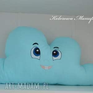 turkusowe poduszki chmurka poduszka kacperek