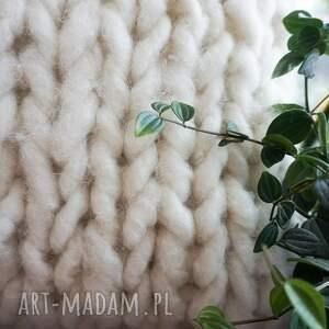WoolByMe poduszki dekoracja domu poduszka chunky white
