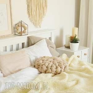 rozetka poduszka czesankowa beżowa