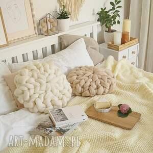poduszki czesankowa poduszka ecru