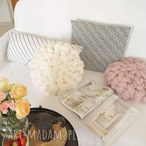 poduszki dekoracyjna poduszka czesankowa - złamana