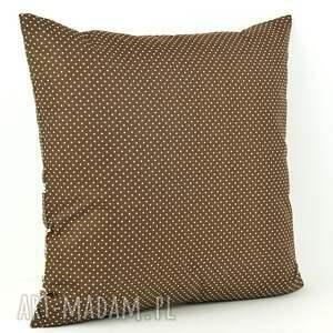 brązowe poduszki bawełna poduszka dekoracyjna 45x45cm