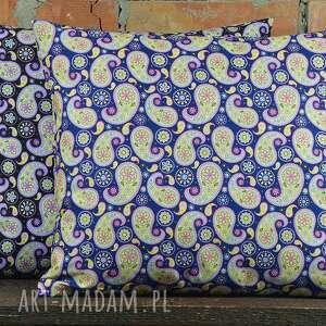 poduszki: Poduszka dekoracyjna wzór paisley 40x45cm - oryginalna bawełna