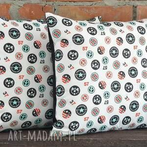 MG Home Decor białe poduszki poszewka poduszka dekoracyjna z motywem