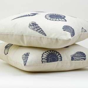 ozdobna poduszki poduszka dekoracyjna muszle 45x45cm