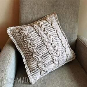 szare poduszki poduszkiplecione poduszka dekoracyjna