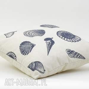 beżowe poduszki poduszka dekoracyjna muszle 45x45cm