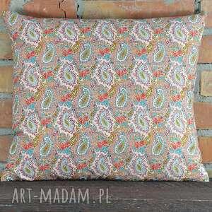 efektowne poduszki poszewka poduszka dekoracyjna wzór paisley