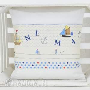 niebieskie poduszki poduszka dekoracyjna 40x40cm