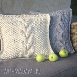 Poduszka dekoracyjna ze sznurka bawełnianego - sznurek