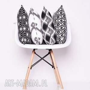 białe poduszki poduszka-ozdobna poduszka diamond - black 50x50cm