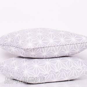 białe poduszki poduszka diamond - grey 40x40cm