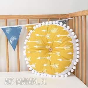 poduszka poduszki żółte dla dziecka