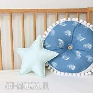 niebieskie poduszki poducha poduszka dla dziecka