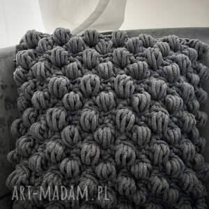 poduszki poduszka dziergana plecionka bubble