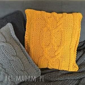 handmade poduszki poduszka ręcznie dziergana w oryginalny wzór