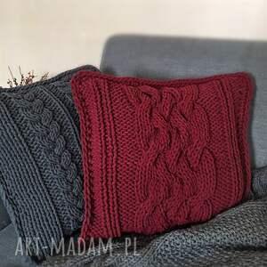 wyjątkowe poduszki poduszka dziergana plecionka