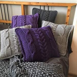 poduszki poduszka dziergana plecionka