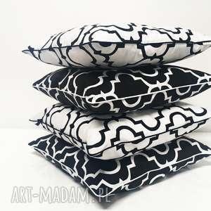 trendy poduszki koniczyna marokańska poduszka fresh black white new