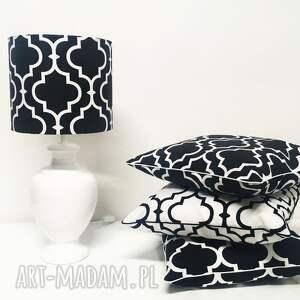 białe poduszki koniczyna poduszka fresh black new 50x50cm