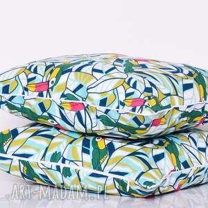 poduszki tukany poduszka green toucan 50x50cm