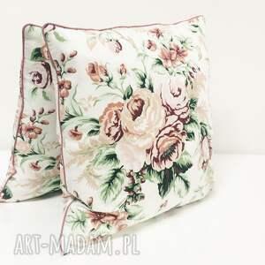 poduszka w-róże poduszki białe gypsy roses - pink 40x40cm
