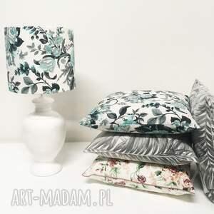 białe poduszki ozdobne poduszka gypsy roses - mint 50x50cm