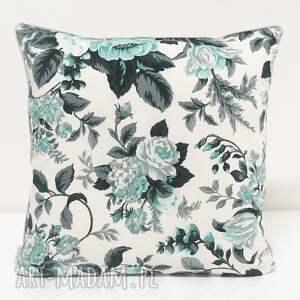 róże poduszki poduszka gypsy roses - mint 50x50cm