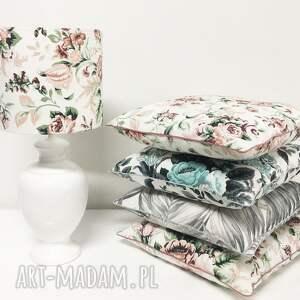 poduszki: Poduszka Gypsy roses - PINK 40x40cm od majunto - róże