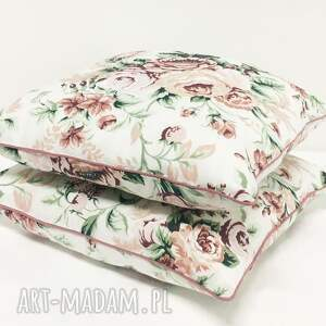 szare róże poduszka gypsy roses - pink 40x40cm