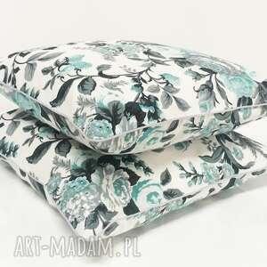 ciekawe poduszki poduszka gypsy roses - mint 50x50cm