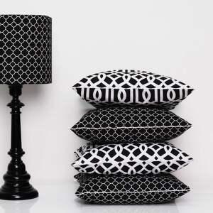 poduszki poduszka imperial trellis black